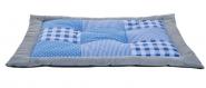 Petlando Patchworkdecke in blau - 100 x 70cm