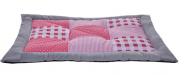 Petlando Patchworkdecke in rosa - 100 x 70cm