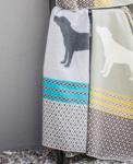 """David Fussenegger`s Hundedecke """"grau-türkis"""" 150 x 110 cm"""