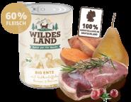 Wildes Land - Bio Ente mit Süßkartoffeln, Birnen & Beeren 400g