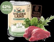 Wildes Land - Menü Lamm mit Reis, Zucchini, Wildkräutern & Distelöl 400g
