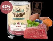 Wildes Land - Menü Rind mit Süßkartoffeln, Heidelbeeren, Wildkräutern & Distelöl 400g