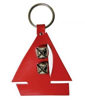 "Segelboot Door bell - Türglocke aus Leder ""rot"""