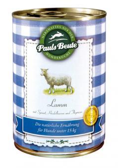 """Pauls Beute """"Lamm getreidefrei - mit Spinat, Heidelbeeren & Thymian"""" 400 g"""
