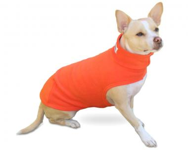 """Outdoor-Fleecepulli """"The Fuzzie"""" in Orange"""