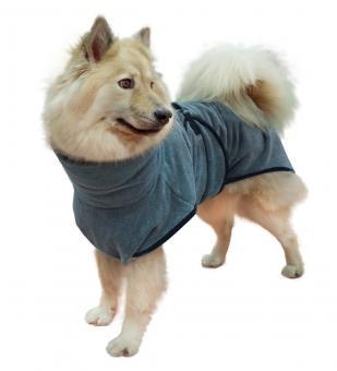 Hundebademantel in grau