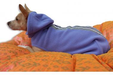 """Outdoor-Fleecepulli """"The Bunnyhug"""" in blau"""