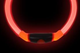 NiteHowl LED Leuchthalsband in rot