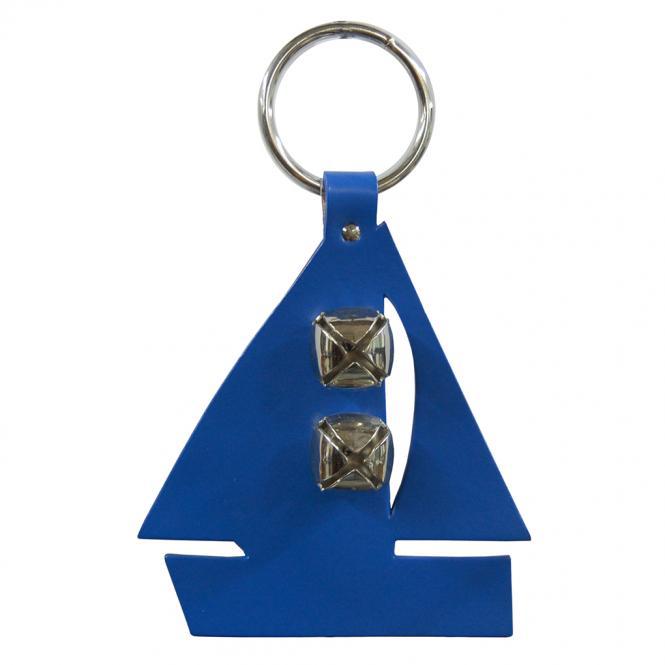 """Segelboot Door bell - Türglocke aus Leder """"blau"""""""