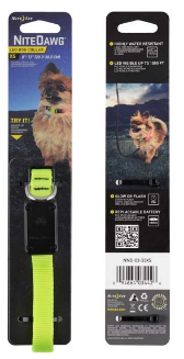 NiteDawg LED Light-Up Hundehalsband für kleinere Hunde in gelb, Größe XS