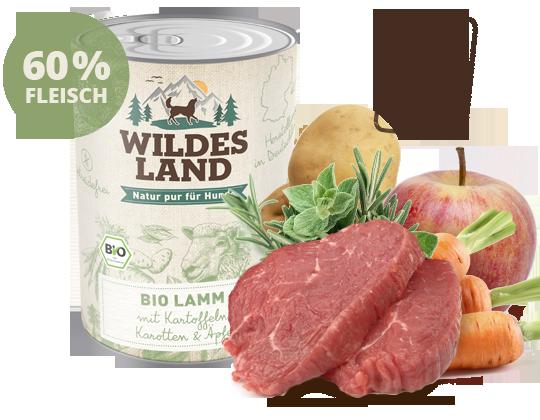 Wildes Land - Bio Lamm mit Kartoffeln, Karotten & Äpfeln 800g